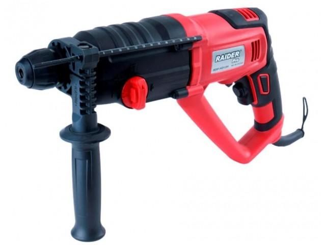 RAIDER 012103 - Перфоратор RAIDER Pro RDP-HD12H, Мощност: 950 W, Сила на удара: 3,0 J, Макс. диаметър на пробиване в бетон: Ø 26 mm