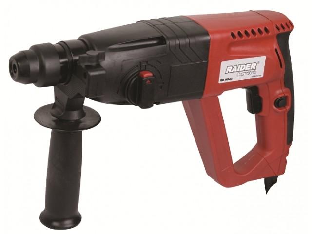 RAIDER 012104 - Перфоратор RAIDER Power Tools RD-HD40, Мощност: 800W, Сила на удара: 2.2 J, Макс. диаметър на пробиване в бетон: Ø 26 mm