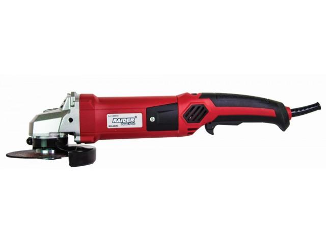 RAIDER 020152 - ЪГЛОШЛАЙФ 125mm, 1200W, куфар с дискове, RD-AG54