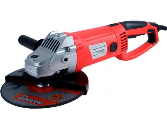 RAIDER 020201 - ЪГЛОШЛАЙФ 230mm с въртяща ръкохватка 2350W RD-AG38