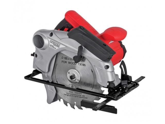 RAIDER 052106 - Ръчен циркуляр RAIDER Power Tools, Модел: RD-CS21, Диаметър на диска ø185 mm, Мощност: 1300 W, С лазерен индикатор