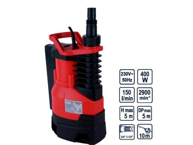 RAIDER 070135 - ПОМПА ВОДНА ПОТОПЯЕМА ЗА МРЪСНА ВОДА RDP-WP28, 1 max, 150L/min, 5m, 400W