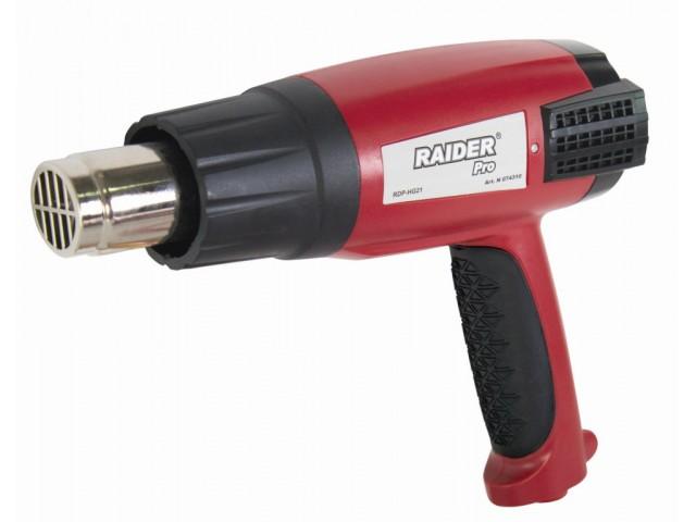 RAIDER 074310 - Пистолет за горещ въздух 2000W, 3степ. + аксесоари, RDP-HG21