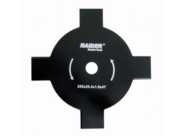 RAIDER 110229 -  НОЖ ЗА МОТОРНА КОСА 4 ЛЪЧА Ø255 x 25.4 mm