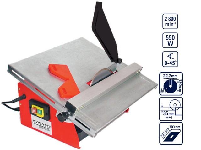 RAIDER 129908 - МАШИНА ЗА ПЛОЧКИ RD-ETC20, Ø180mm, 550W