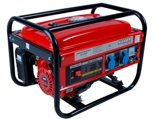 RAIDER 129931 - СИНХРОНЕН ГЕНЕРАТОР ЗАТОК 2kW, RD-GG02, бензинов, четиритактов, 2000 W