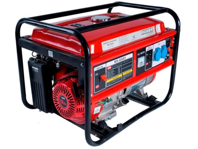 RAIDER 129941 - СИНХРОНЕН ГЕНЕРАТОР ЗАТОК 5kW, RD-GG03, бензинов, четиритактов, 5000 W