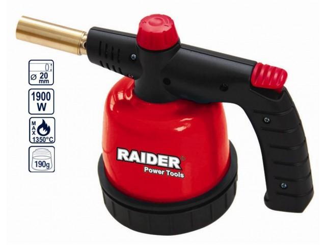 RAIDER 450101 - ГОРЕЛКА МЕТАЛНА ЗА ПАТРОН 190g С ПИЕЗО RD-BT02