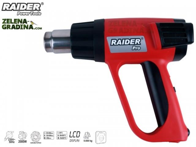 RAIDER 074305 - Пистолет за горещ въздух RAIDER RDP-HG16, 3 степени на регулация, Мощност: 2000 W