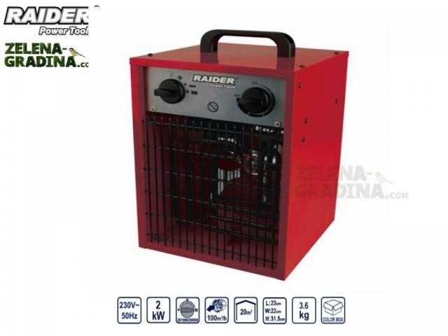 RAIDER 078801 - Електрически калорифер RAIDER RD-EFH02, Мощност: 2 kW