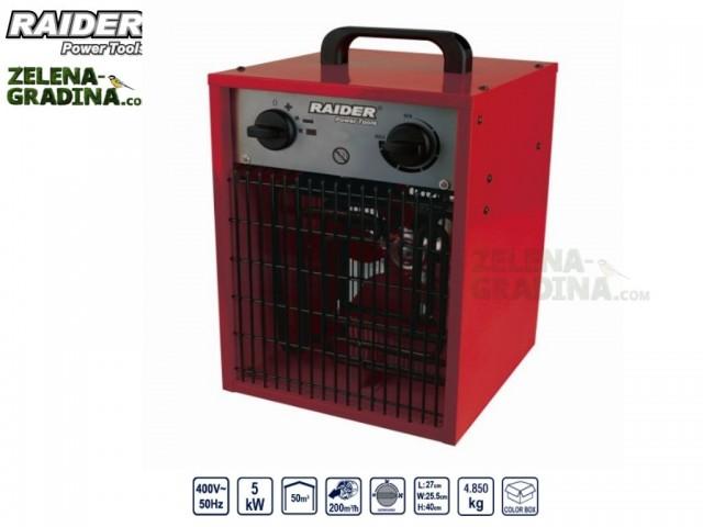 RAIDER 078803 - Електрически калорифер RAIDER RD-EFH05, Мощност: 5 kW