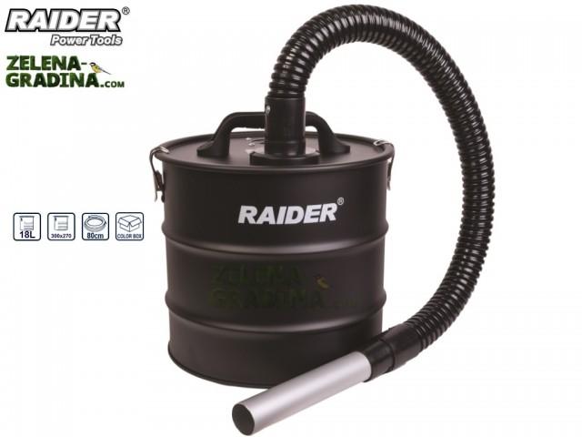 RAIDER 090303 - Контейнер за прахосмукачка за пепел с HEPA филтър RAIDER, Обем на съда: 18L