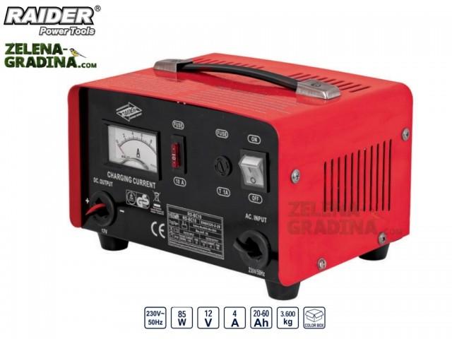 RAIDER 129962 - Зарядно за акумулатор за 12/24V RAIDER RD-BC10, Големина на тока: 4A