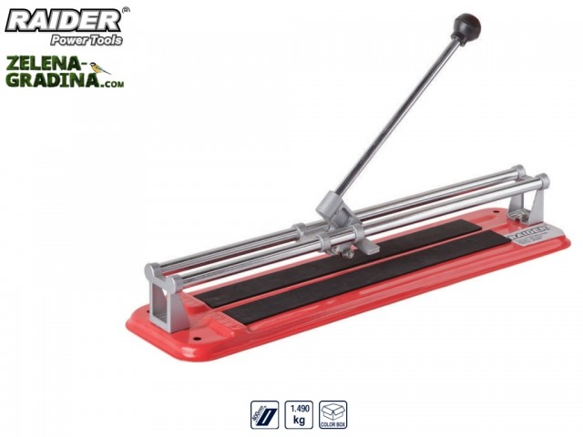 RAIDER 321501 - Ръчна машина за рязане на фаянс (плочки) RAIDER RD-TC02, Дължина на работния плот: 40 cm