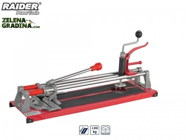 RAIDER 321502 - Ръчна професионална машина за рязане на фаянс (плочки) 3в 1, модел RAIDER RD-TC10, Дължина на работния плот: 40 cm
