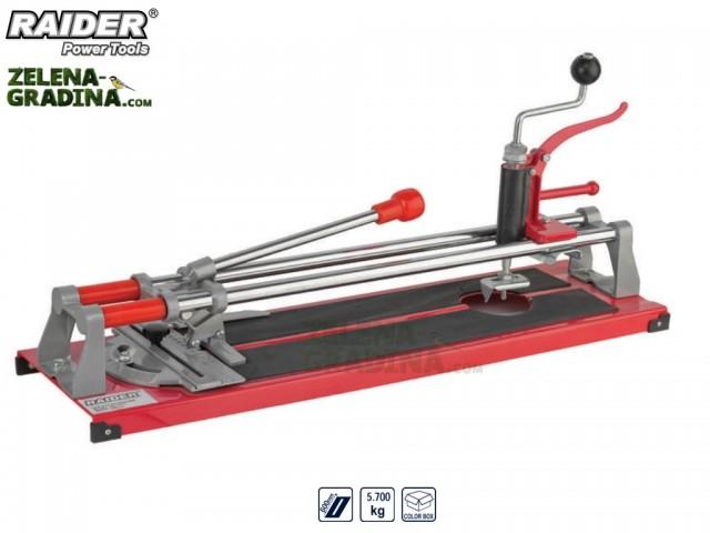 RAIDER 321503 - Ръчна професионална машина за рязане на фаянс (плочки) 3в 1, модел RAIDER RD-TC13, Дължина на работния плот: 60 cm