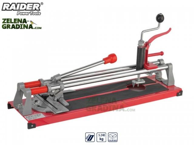 RAIDER 321507 - Ръчна професионална машина за рязане на фаянс (плочки) 3в 1, модел RAIDER RD-TC12, Дължина на работния плот: 50 cm