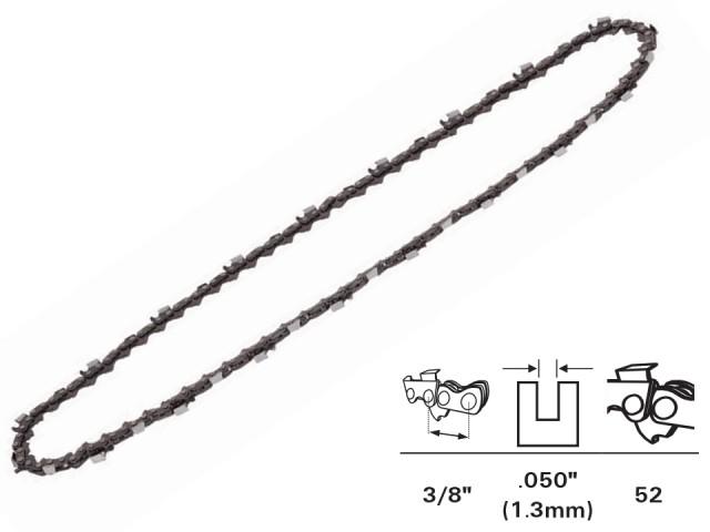 """RAIDER 140102 - ВЕРИГА ЗА ВЕРИЖЕН ТРИОН (ЕЛЕКТРИЧЕСКА РЕЗАЧКА) 3/8"""",1.3mm, 52 звена"""